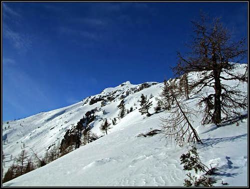Visevnik from below its E ridge