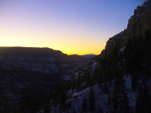 Dawn view of Humphreys Peak