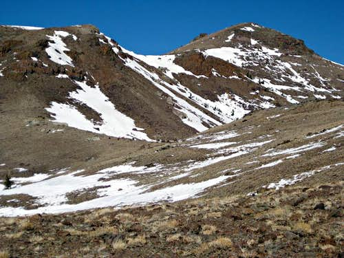 Red Lake Peak during a dry winter.