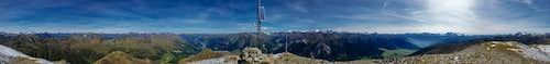 360° summit panorama Elferspitz / Cima Undici