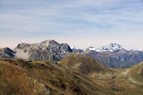 Piz S-Chalambert Dadaint (3031m) und Fluchthorn (3398m)