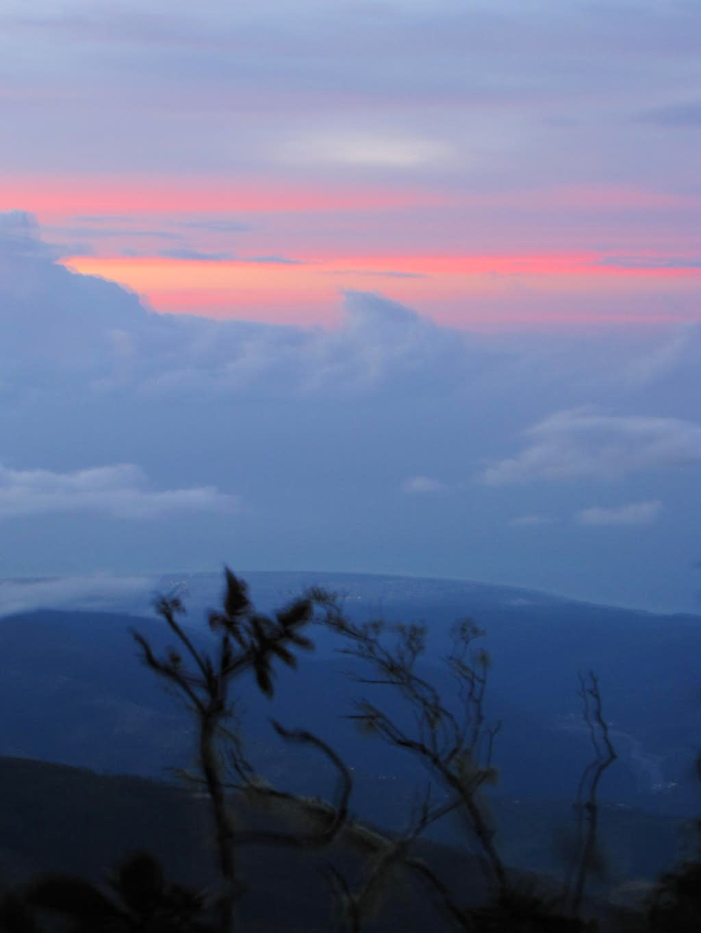 Sunrise on Blue Mountain Peak, Jamaica