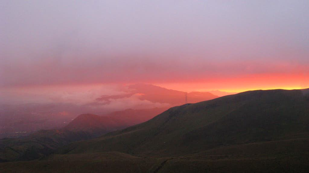 Sunset behind the Pichinchas