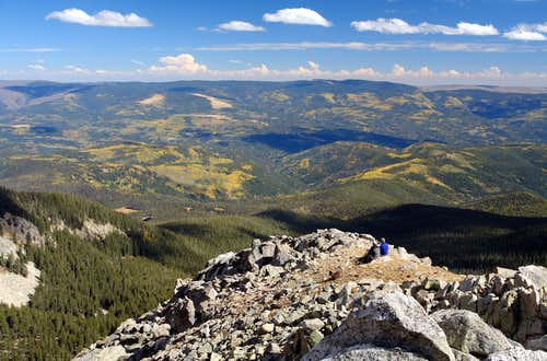 Pecos, view from Santa Fe Baldy