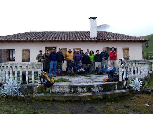 Where the trail to the Illiniza Norte began
