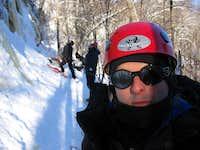 Ice climbing, Québec, Canada