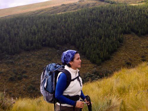 Beautiful ecuadorian highlands
