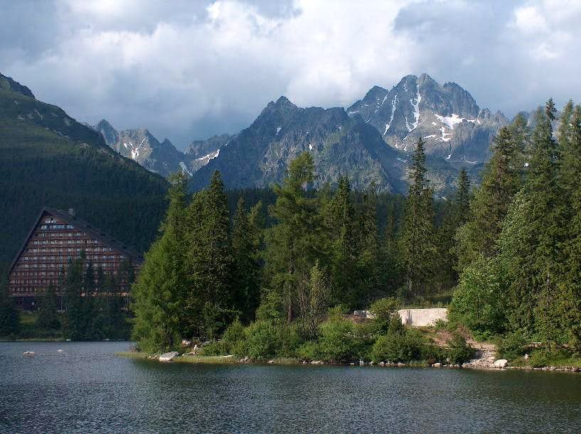 The mountain resort of Štrbské Pleso.