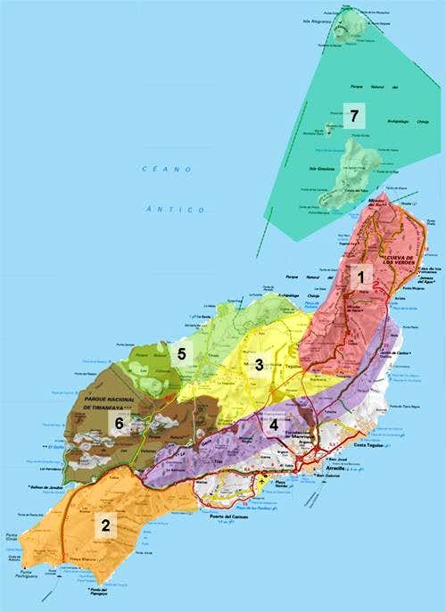 Overview map of Lanzarote