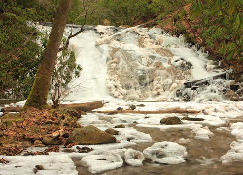 Indian Creek Falls in winter