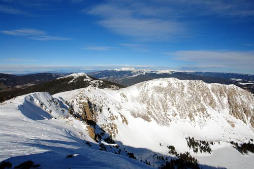 Winter, view from the summit of Santa Fe Baldy