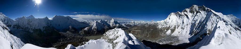 View from Island Peak