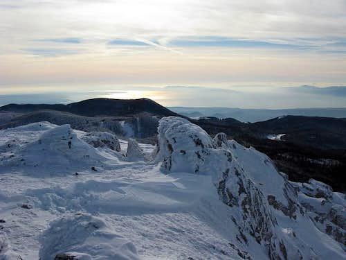 Snježnik (1.505 mtrs) summit view