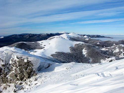 Surrounding peaks of Snježnik