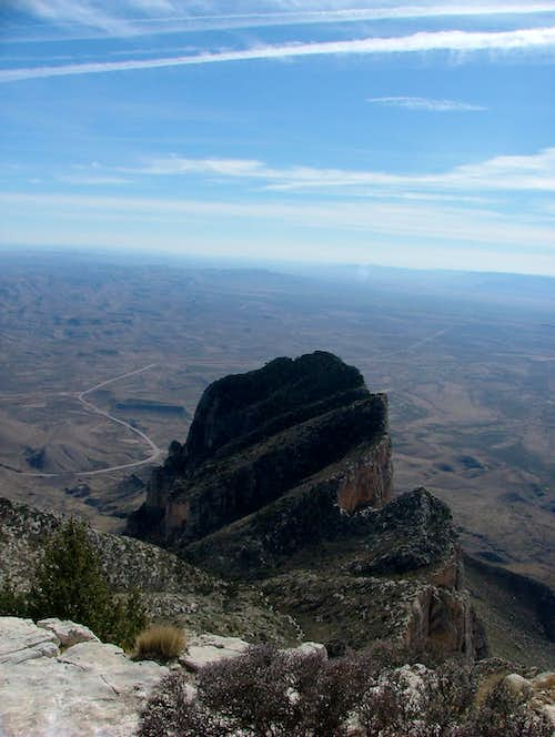 El Capitan from Guadalupe Peak.