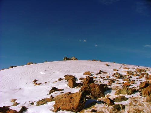 Approaching Wheeler Peak´s Summit.