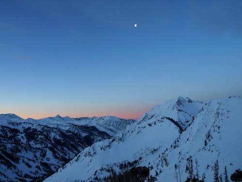 dawn on Flagstaff ridge
