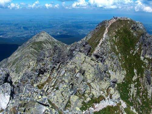 End of Orla Perć, at the top of Granaty