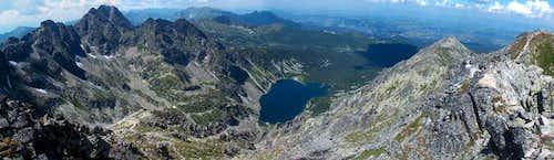 From Granaty, looking down to the lake Czarny Staw Gąsienicowy