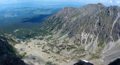 From Granaty, looking down to valley Dolina Pańszczyca