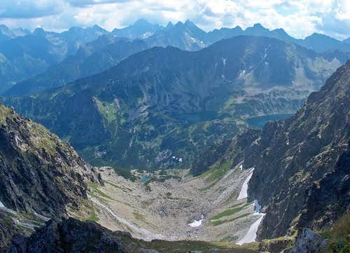 From Granaty, looking down to the valley going to Krzyzne