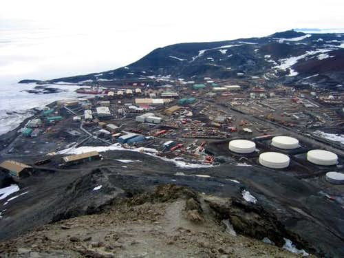 The view towards McMurdo...