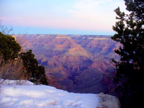 Winter dawn at the S Rim