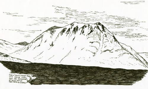 The Black Mount in Pen and Ink - Across to Creise