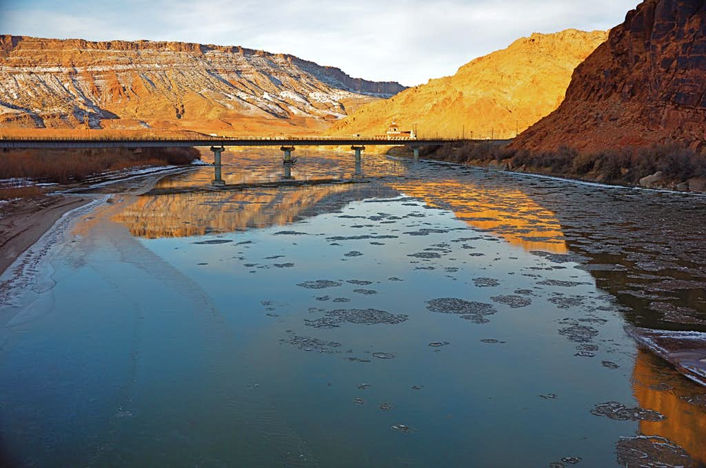 Floating ice on Colorado River