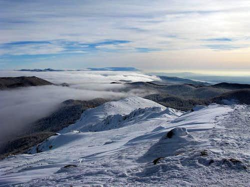 Summit view towards S
