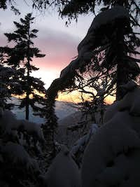 Fresh snow and sun from Lion Head Trail