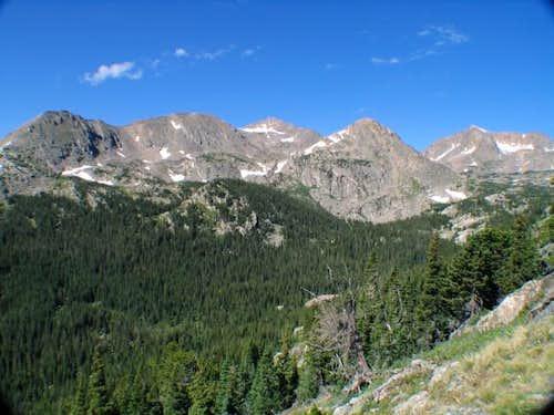 Jasper Peak (center) hiding...