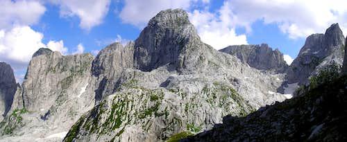 Forca(2340m) and Maja Vukoces(2450)m