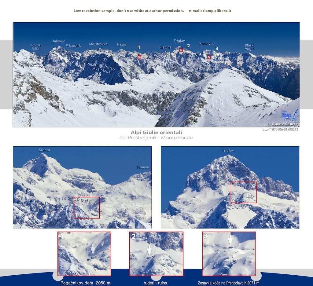 Alpi Giulie orientali dal Monte Forato