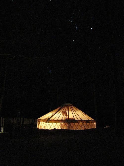Bunchgrass Yurt, in the Bear River Mtns
