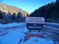 Grow Gulch Picnic Grounds Sign
