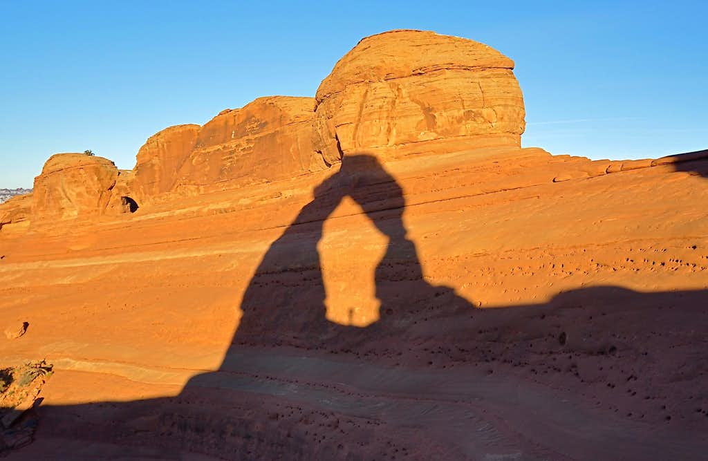 Sharing a sunrise with Delicate Arch