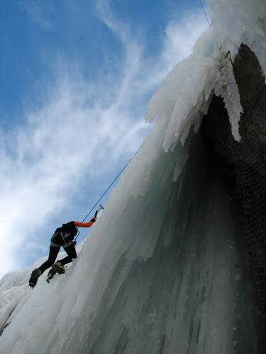 hamelun ice wall, close to tehran, and i never forget that cold day in my life