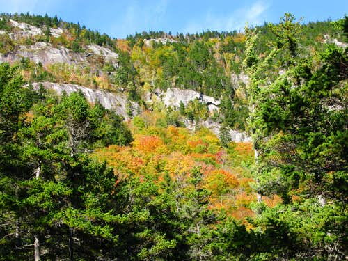 the cliffs by Moose Cave