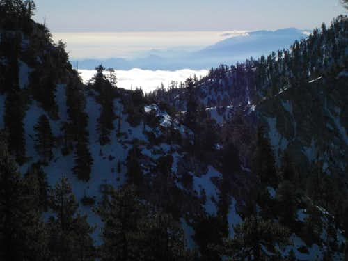 San Gabriels and clouds