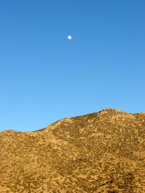 Moon over Boulder Ridge