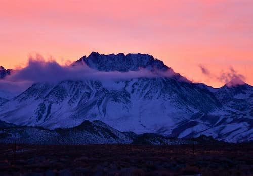 Basin Mountain at dusk