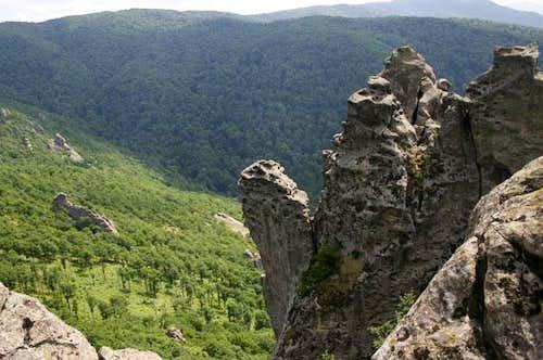 Rocks of mt. Indyuk