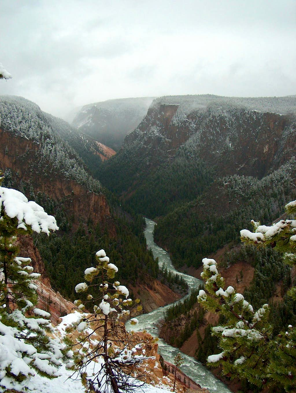 Grand Canyon of the Yellowstone after Snow