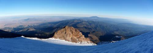 Pico de Orizaba glacier panorama