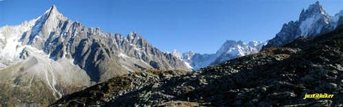 Panorama of Les Drus (3.754m)