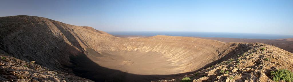 The 1.15 wide crater of Caldera Blannca