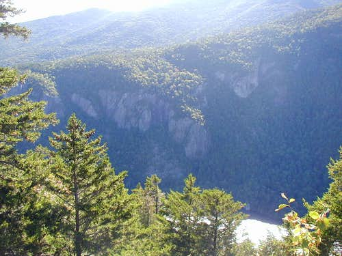 viewpoint of lower ausable lake