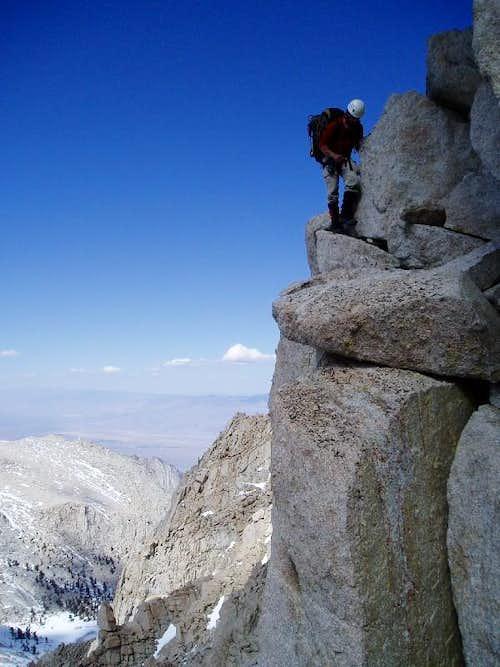 Traversing past Lone Pine Peak