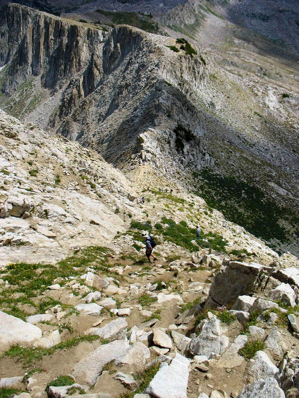Descending Pfeifferhorn east ridge